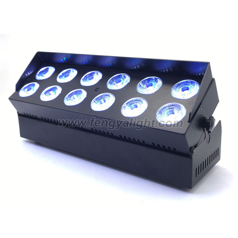 12x18w 6 in 1 battery powered dmx wireless led wall washer light