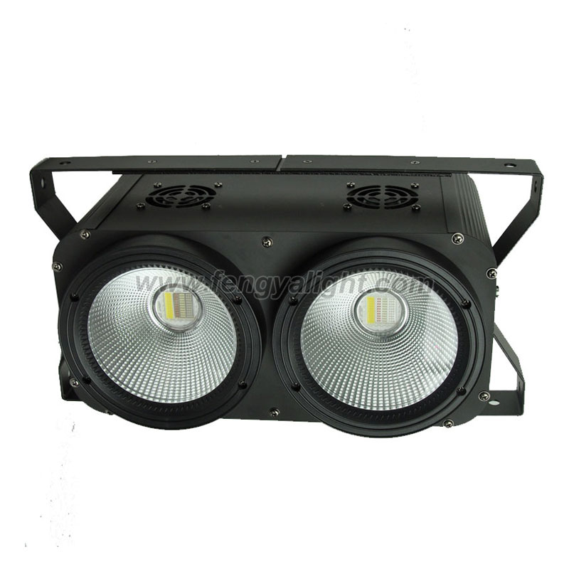 2x100W RGBW 4 IN 1 COB LED Blinder Light