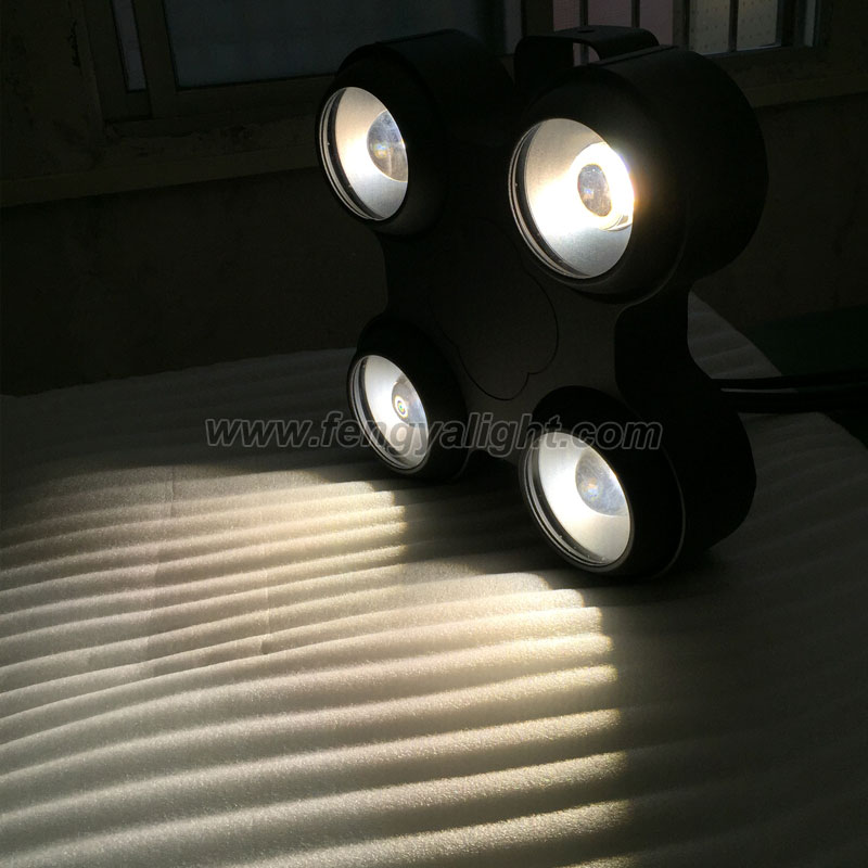 4X100W waterproof IP65 COB LED blinder light