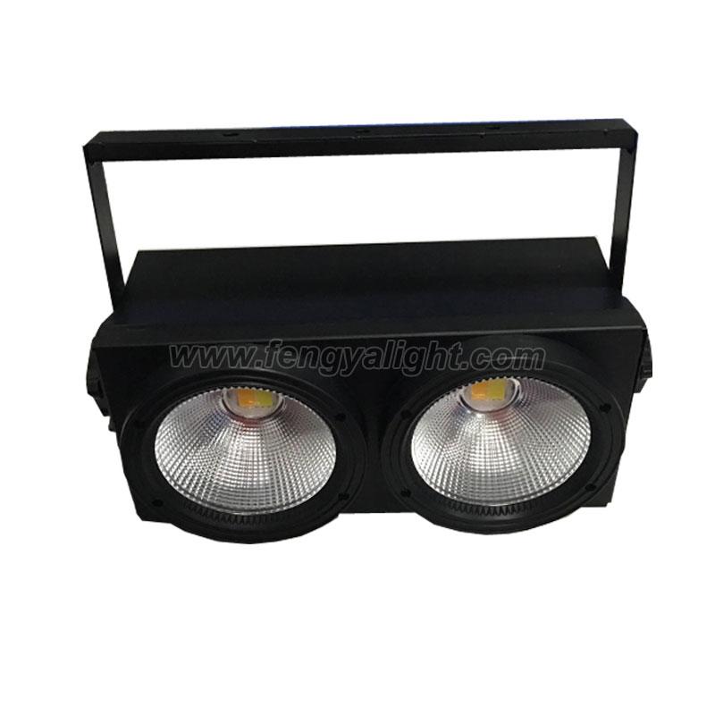 2x100w Warm white(white) 2 in 1 COB LED blinder light