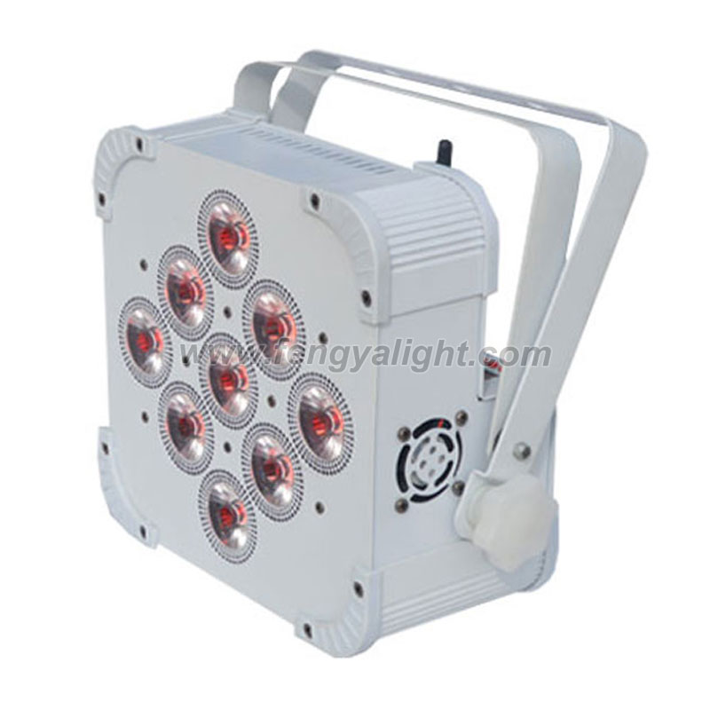9x18w 6 in 1 battery wireless dmx led par can for wedding uplights