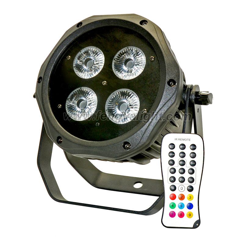 4x15w outdoor battery power dmx wireless IR led par can stage light