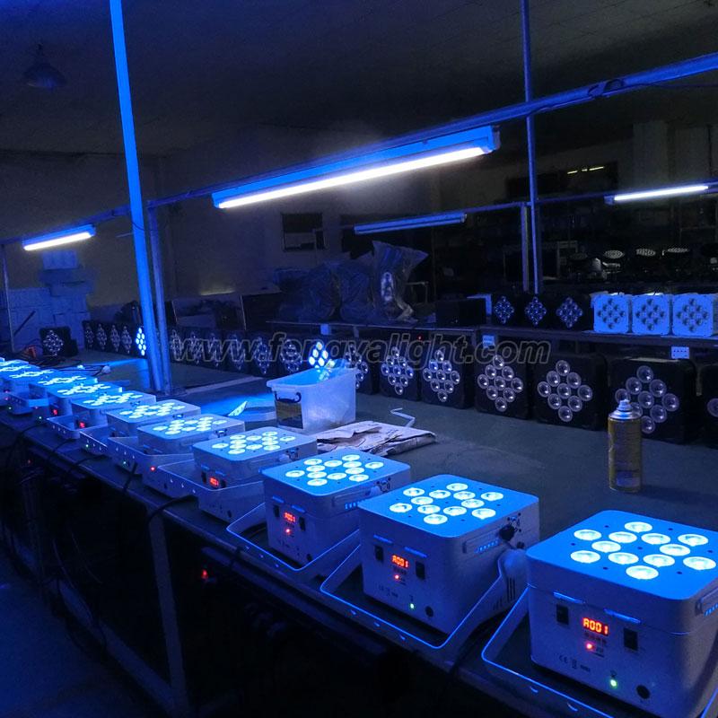 12x18w rgbwa uv battery wireless led par can stage light