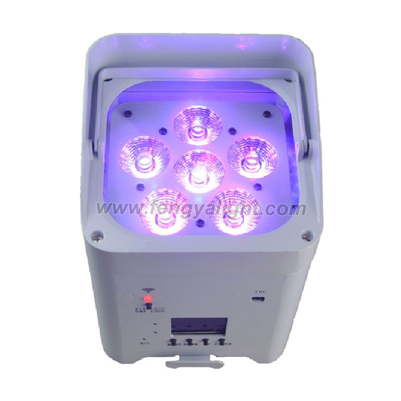 6X18W 6 in 1 battery power & wireless DMX led flat led par can uplights