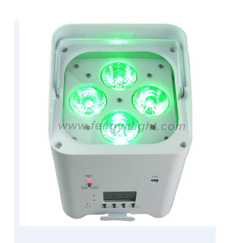 4x18w 6 in 1 battery power & wireless DMX led par can uplights