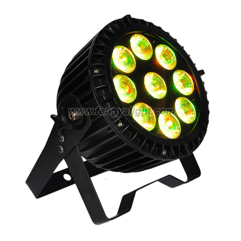 9X15W RGBWA UV 6 IN 1 slim outdoor led par can