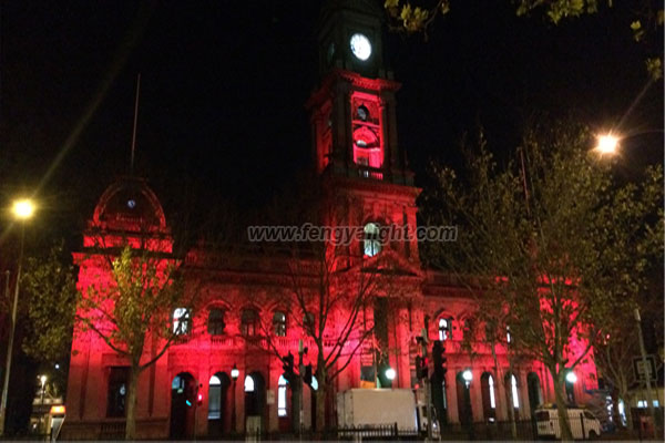 Australia City Hall building city color lights