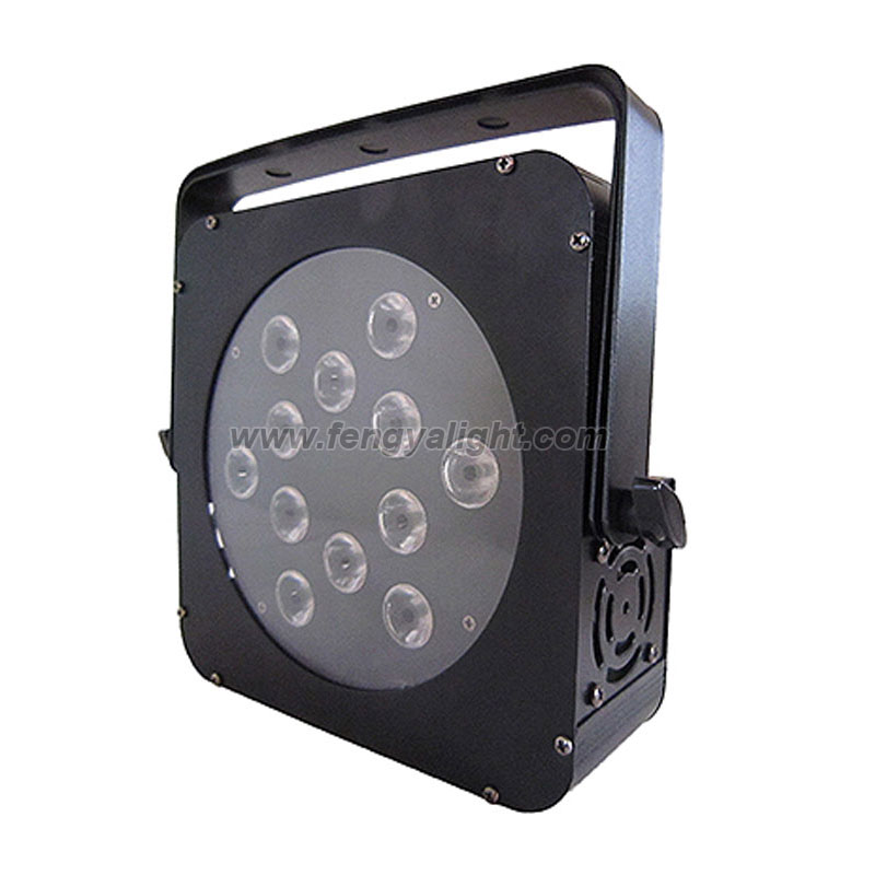 12x12w rgbwa uv 6 in 1 flat led par can