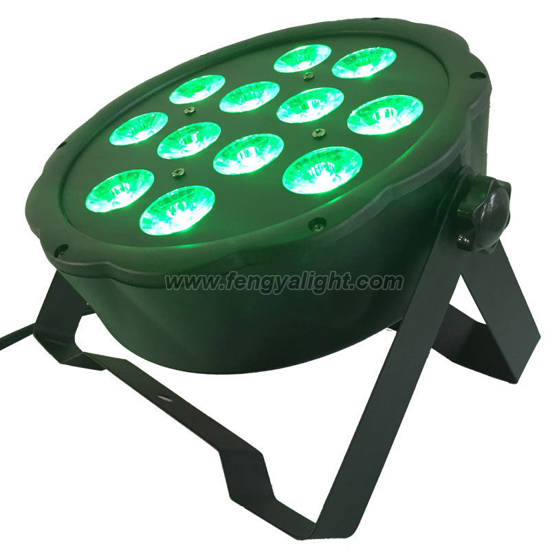 12x4w rgbw 4 in 1 flat led par can