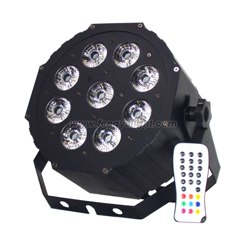 9X12W RGBAW UV 6in1 led par64 can