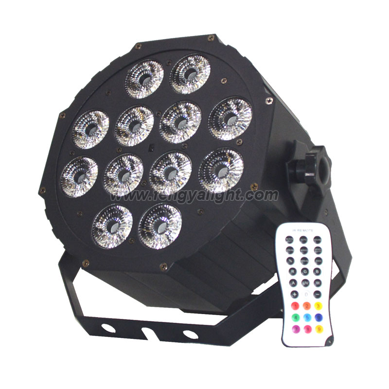 12x12w RGBAW UV 6in1 flat led par can