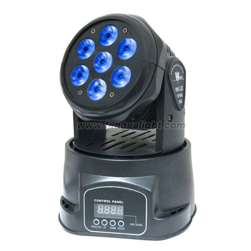7x10w rgbw 4 in 1 led moving head washer light