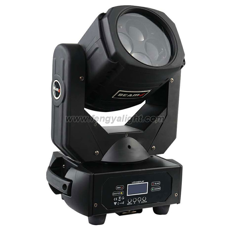 Super beam 4x25w RGBW mini led moving head light