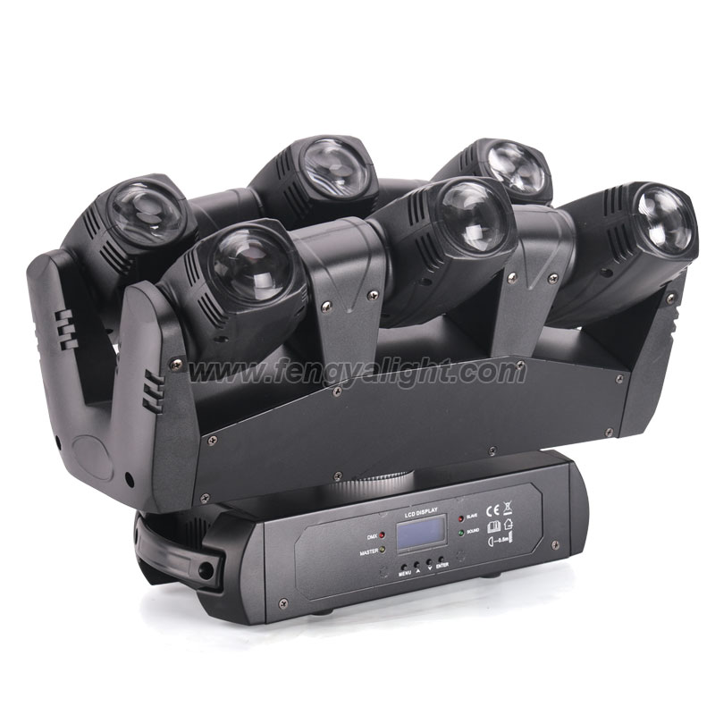 LED SIX SHOOTER Moving Head Beam Light