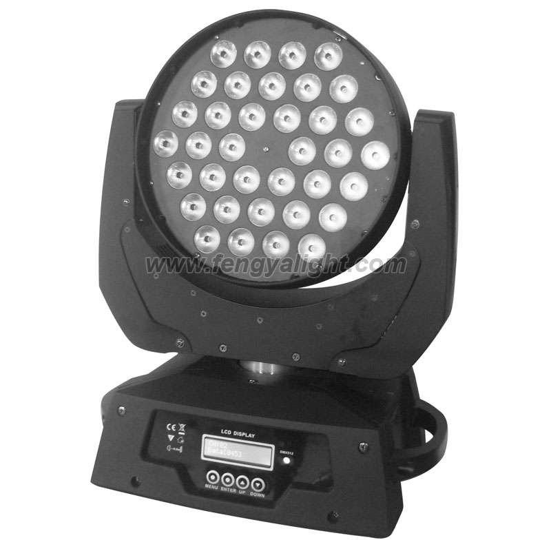 36x10w rgbw led moving head washer light