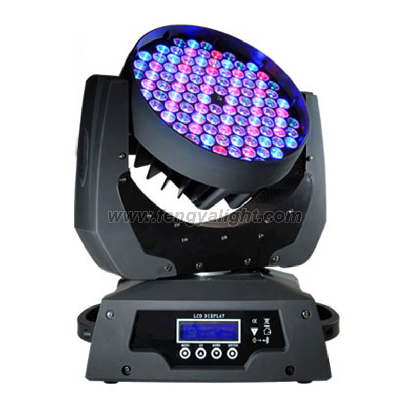 108x3w rgbw led moving head washer light