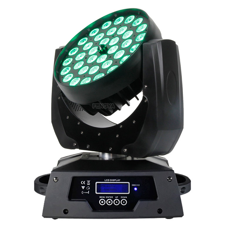 36X15W RGBAW UV 6 in1 LED Zoom moving head light