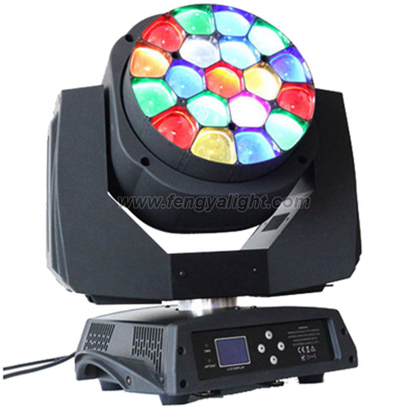 19x15w zoom bee eye led beam moving head light
