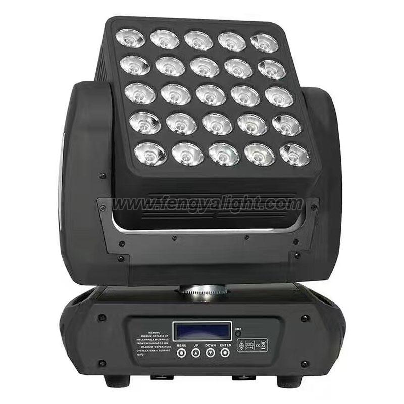 25x12w matrix led moving head beam light