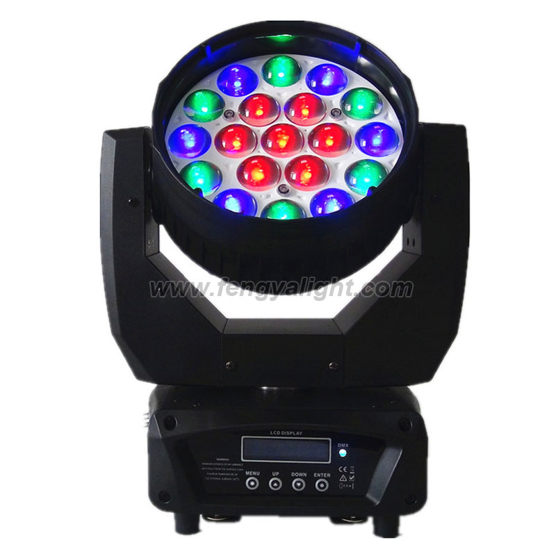 19X12W RGBW led beam washer moving head light