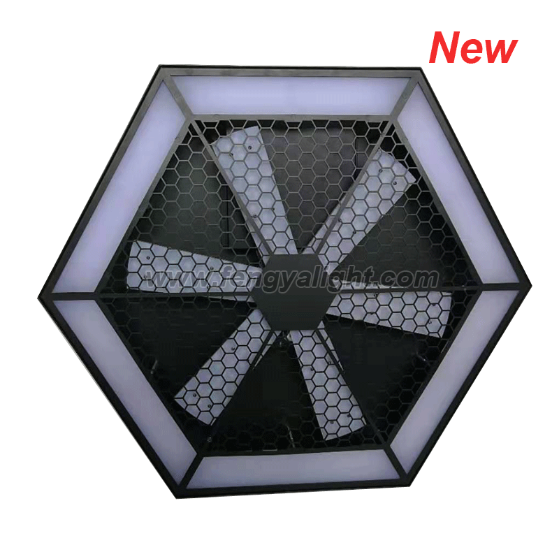 Infinite whirlwind LED pixel stage background light
