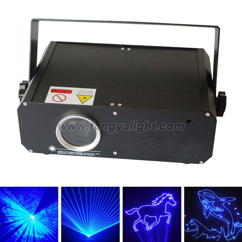 1000mw single blue disco party animation laser light