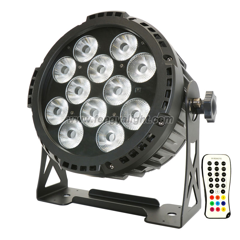 12X15W RGBWA UV outdoor battery powered dmx wireless led par can