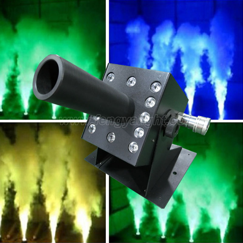 Color dmx co2 jet machine with 12X3W RGB LEDs washer