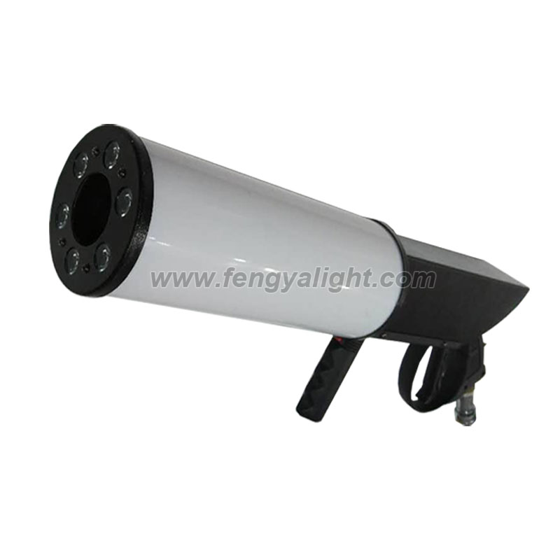 RGB LED hand held co2 DJ gun for stage party club