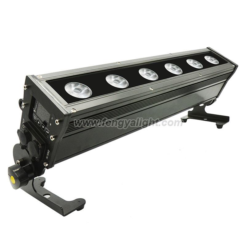 6x15w rgbwa uv outdoor battery wireless led washer bar light