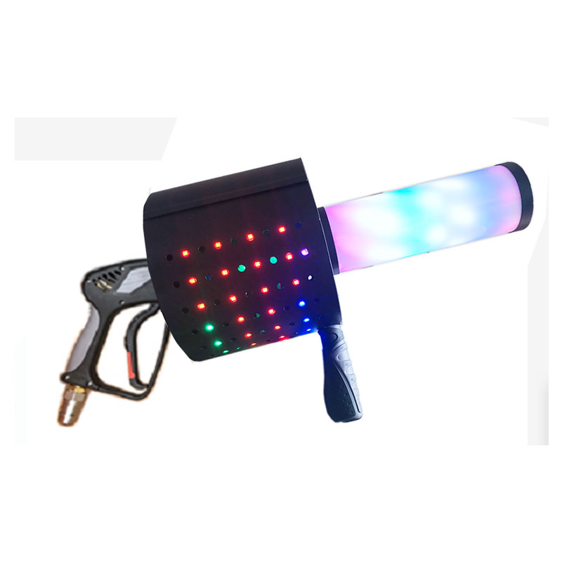 Handhold rgb led Co2 confetti gun for party