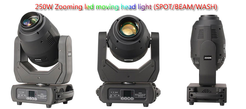 250w zoom led spot moving head light