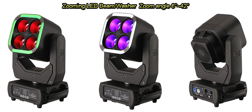 4x60w led beam washer moving head light